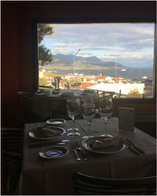 Kaupe dinner port view Ushuaia