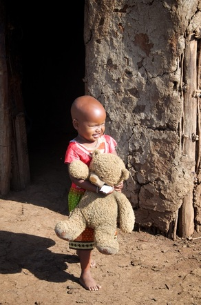 Masai Village Girl Teddy Bear